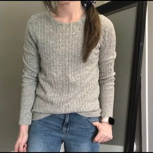 J.crew cable knit wool cashmere sweater medium